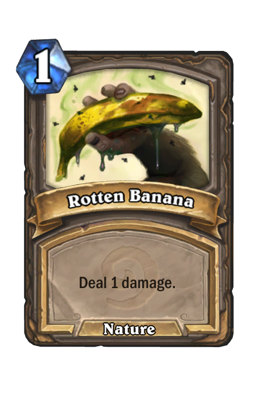 rotten banana hearthstone kártya