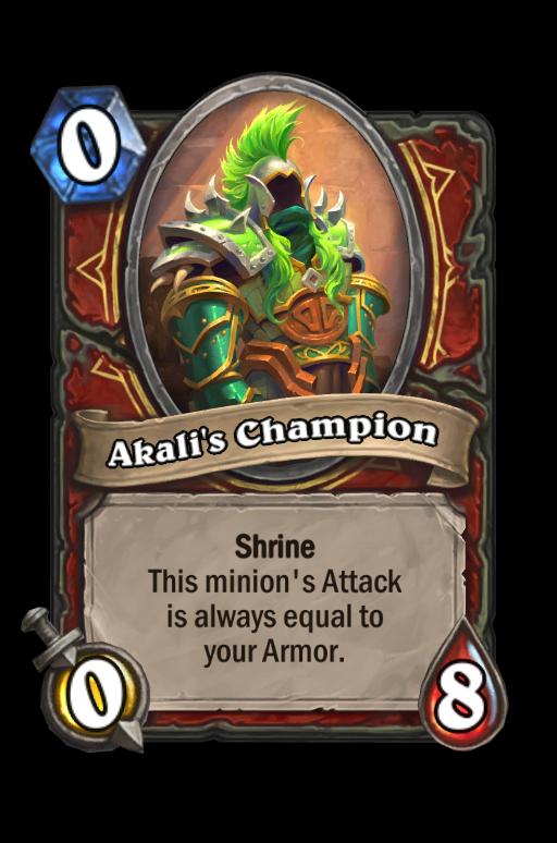 Akali's Champion Hearthstone kártya