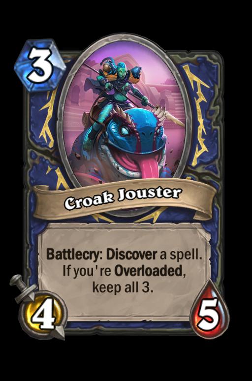 Croak Jouster Hearthstone kártya