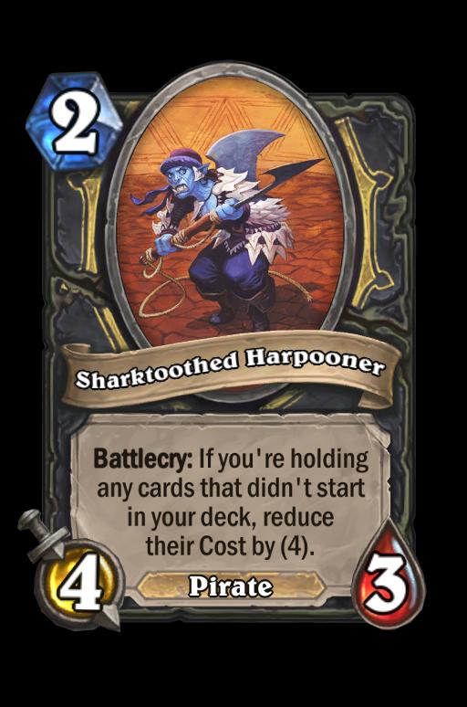Sharktoothed Harpooner Hearthstone kártya