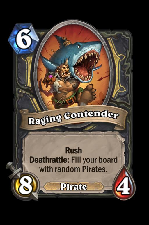 Raging Contender Hearthstone kártya