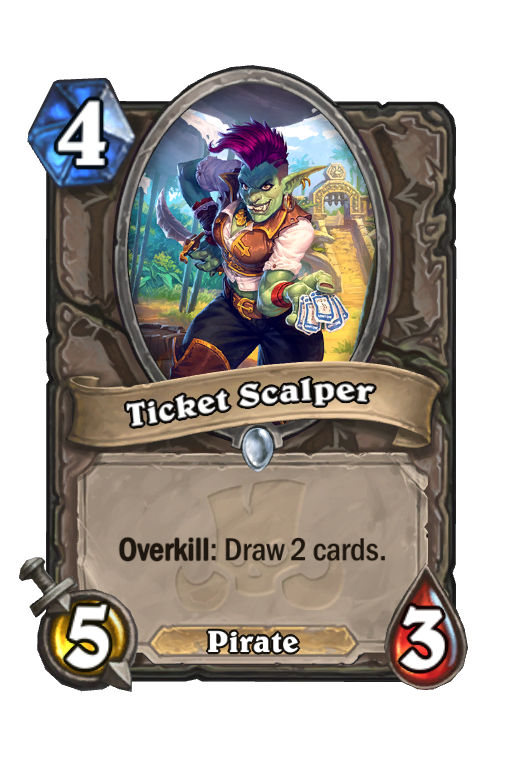 Ticket Scalper Hearthstone kártya