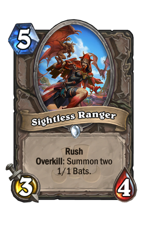 Sightless Ranger Hearthstone kártya