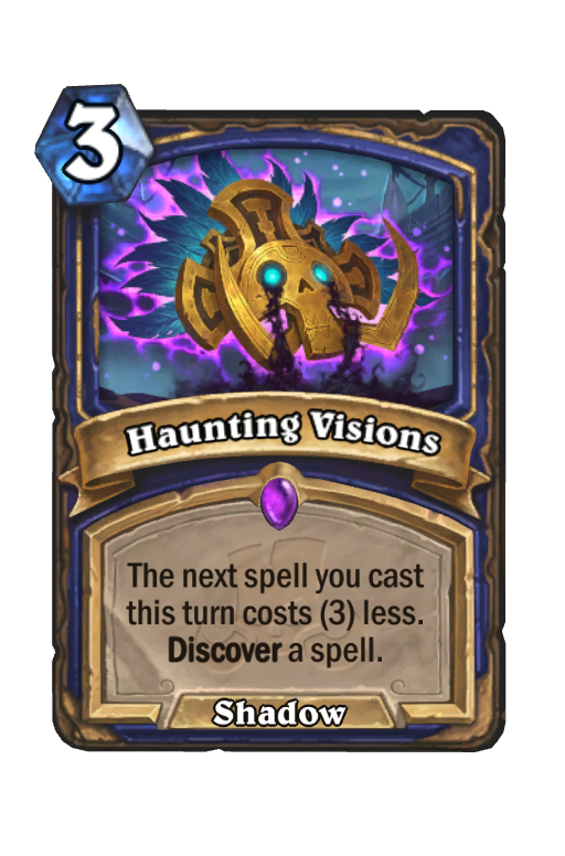 Haunting Visions Hearthstone kártya