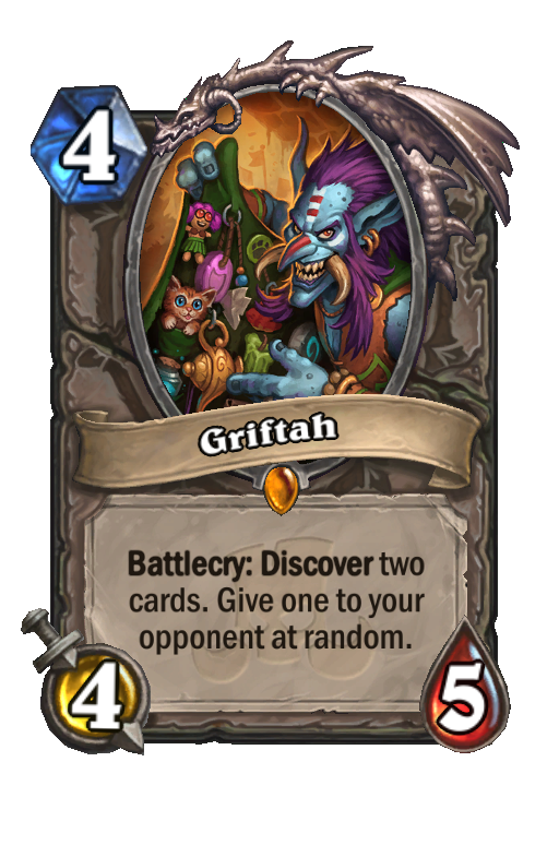 Griftah Hearthstone kártya