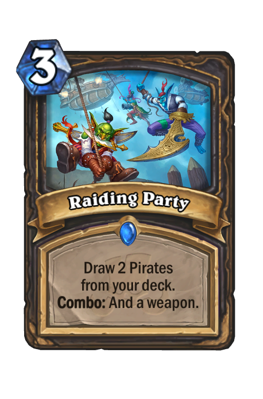 Raiding Party Hearthstone kártya