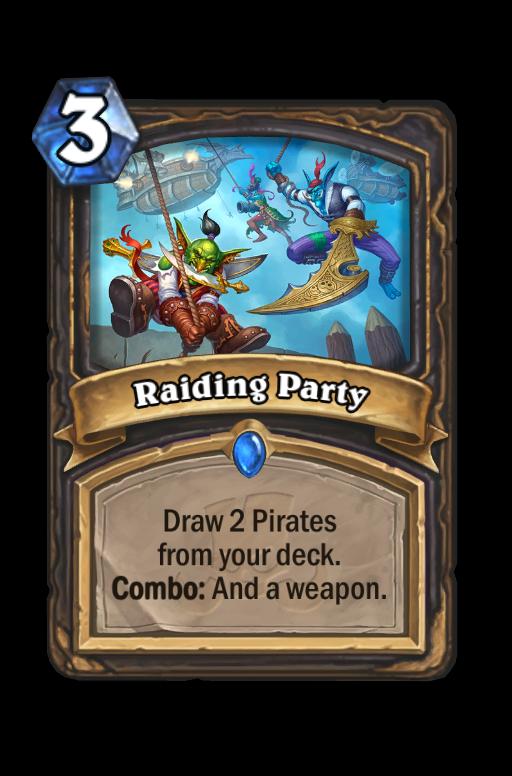 Raiding Party Hearthstone kártya