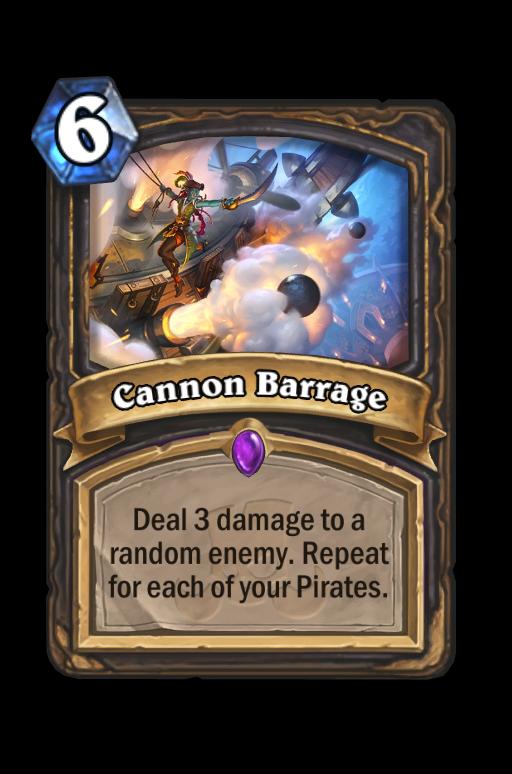Cannon Barrage Hearthstone kártya