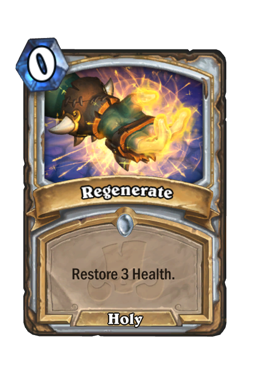 Regenerate Hearthstone kártya