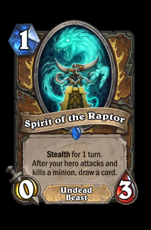 Spirit of the Raptor Hearthstone kártya