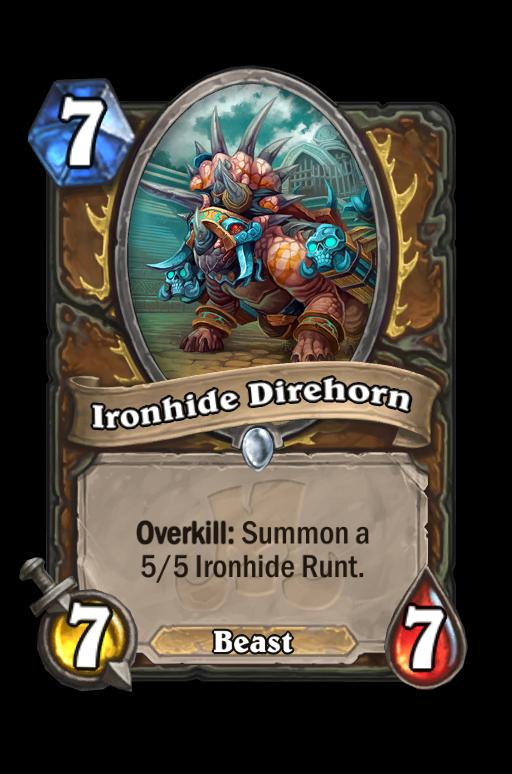 Ironhide Direhorn Hearthstone kártya