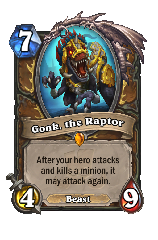 Gonk, the Raptor Hearthstone kártya