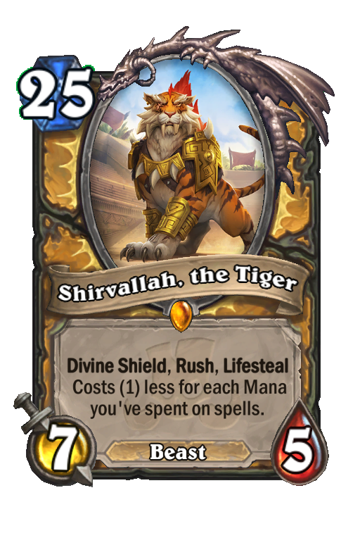 Shirvallah, the Tiger Hearthstone kártya