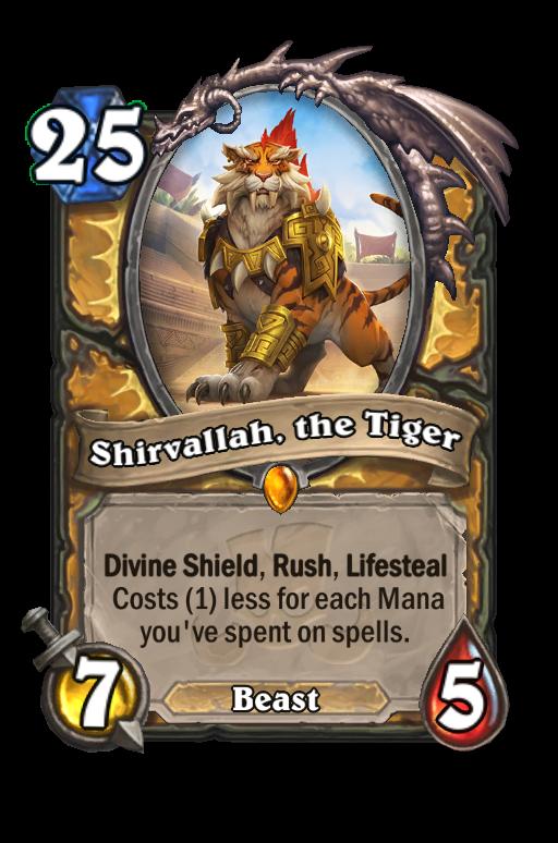Shirvallah, the Tiger Hearthstone kártya