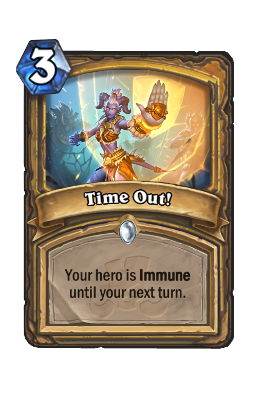 Time Out! Hearthstone kártya