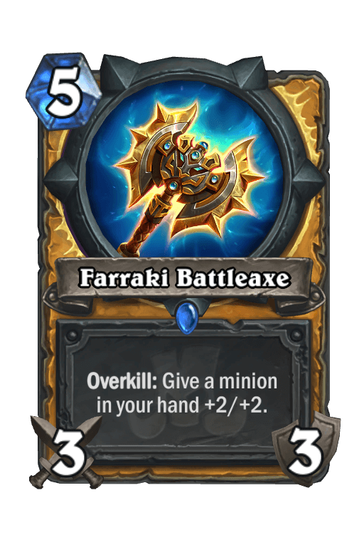 Farraki Battleaxe Hearthstone kártya
