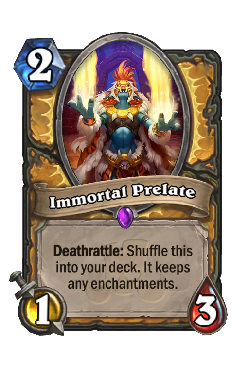 Immortal Prelate Hearthstone kártya