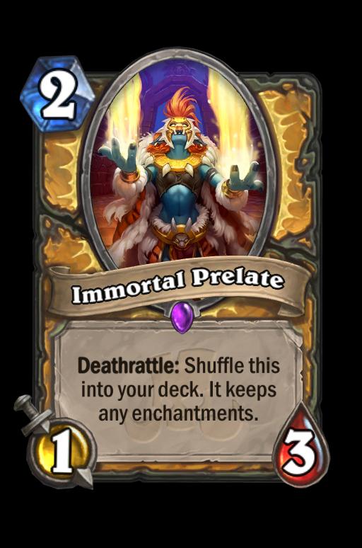 Immortal Prelate Hearthstone kártya