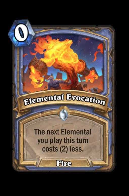 Elemental Evocation Hearthstone kártya
