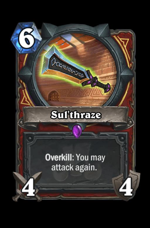Sul'thraze Hearthstone kártya