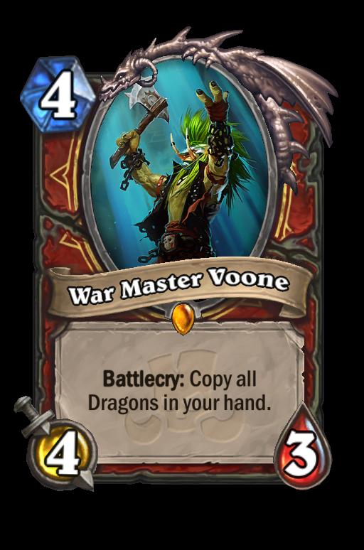War Master Voone Hearthstone kártya