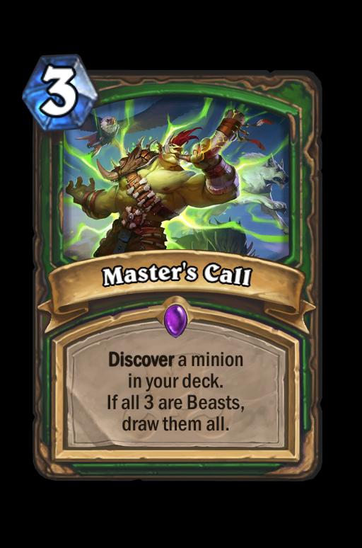 Master's Call Hearthstone kártya