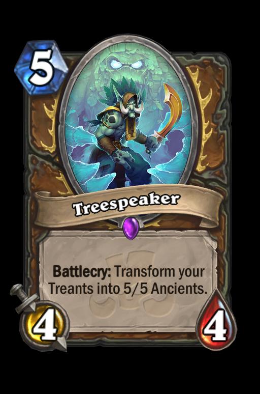 Treespeaker Hearthstone kártya