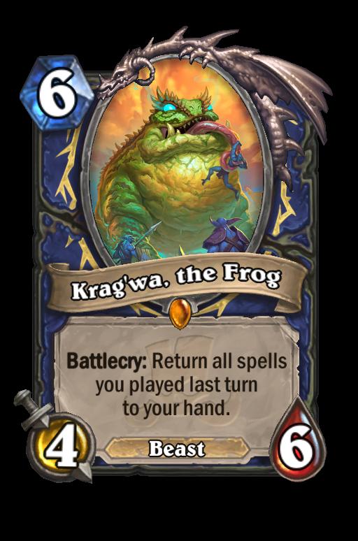 Krag'wa, the Frog Hearthstone kártya