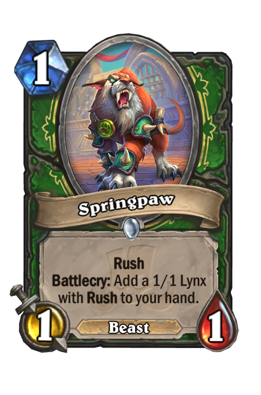 Springpaw Hearthstone kártya
