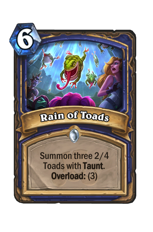 Rain of Toads Hearthstone kártya