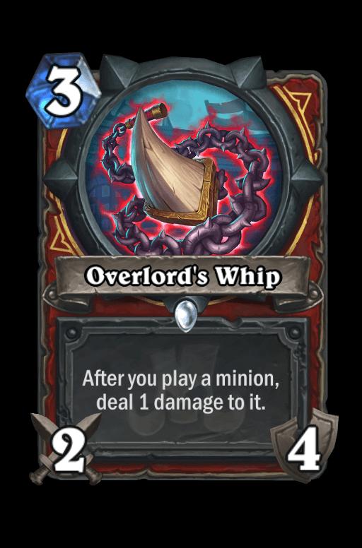 Overlord's Whip Hearthstone kártya