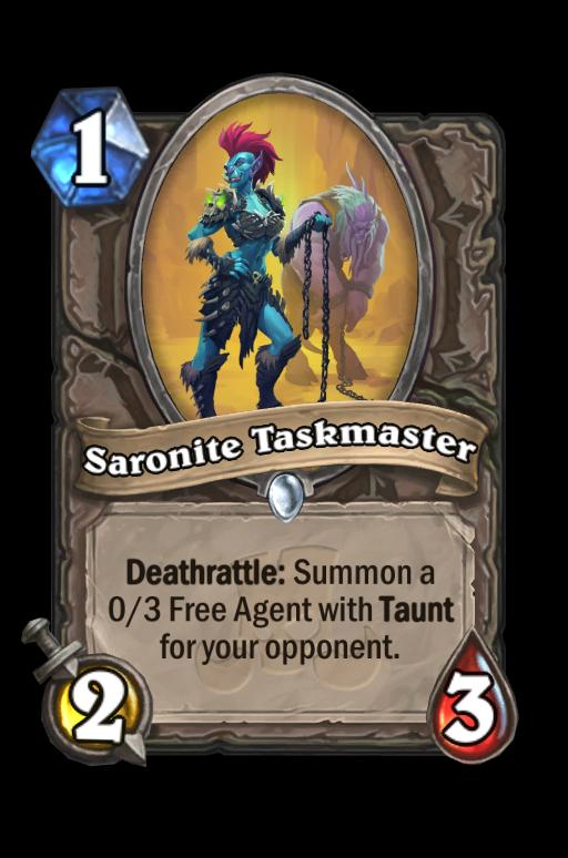 Saronite Taskmaster Hearthstone kártya
