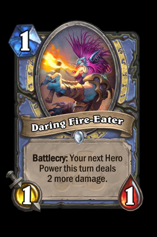 Daring Fire-Eater Hearthstone kártya