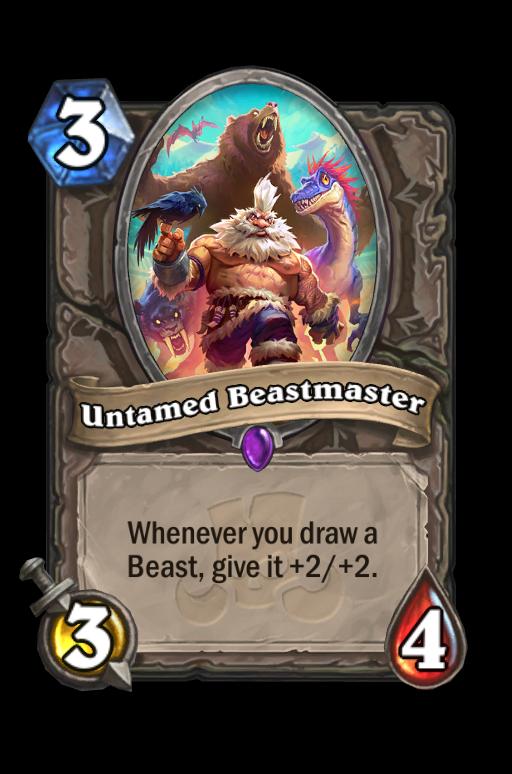 Untamed Beastmaster Hearthstone kártya