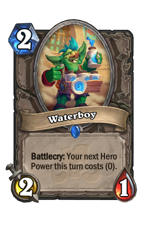 Waterboy Hearthstone kártya