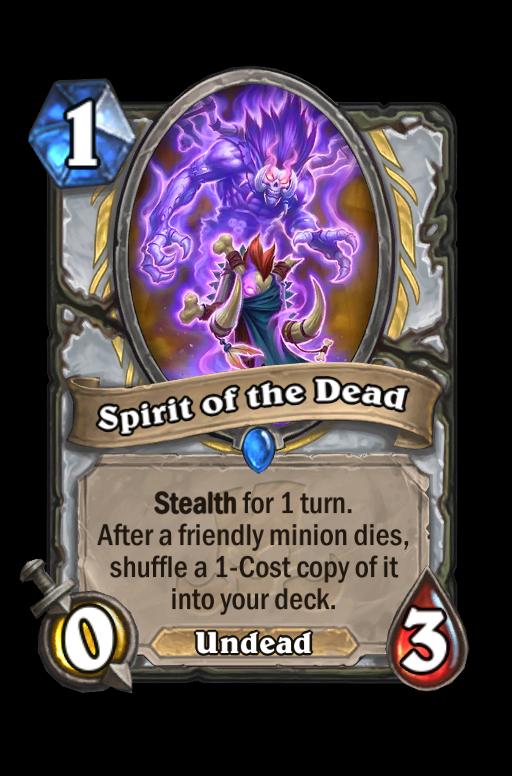 Spirit of the Dead Hearthstone kártya