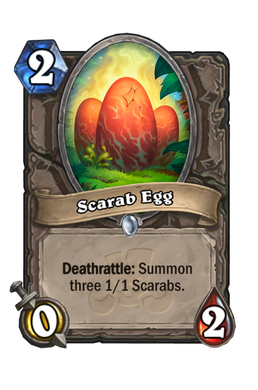 Scarab Egg Hearthstone kártya