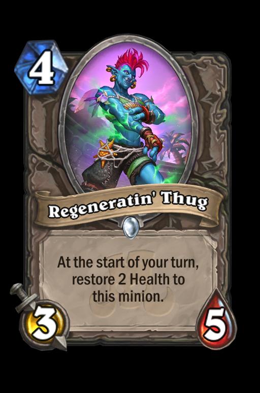 Regeneratin' Thug Hearthstone kártya