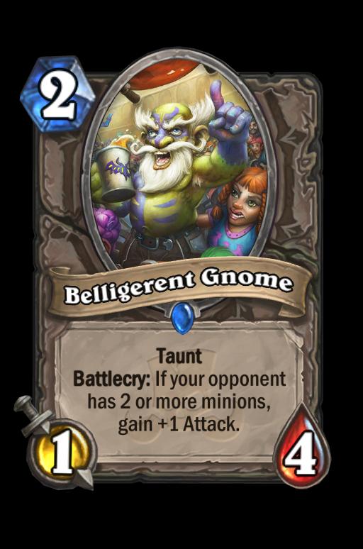 Belligerent Gnome Hearthstone kártya