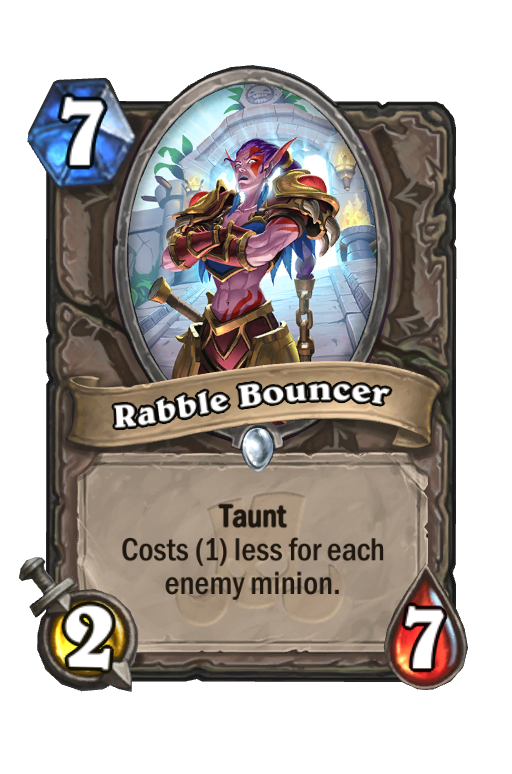 Rabble Bouncer Hearthstone kártya