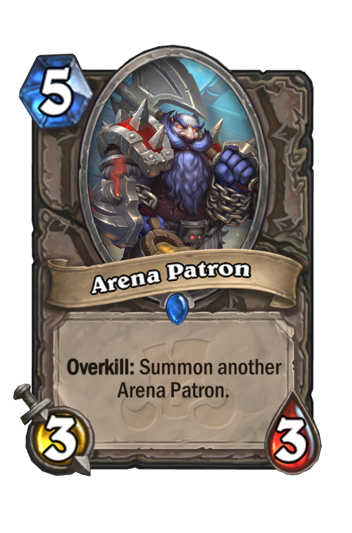 Arena Patron Hearthstone kártya