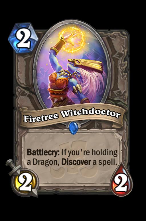 Firetree Witchdoctor Hearthstone kártya