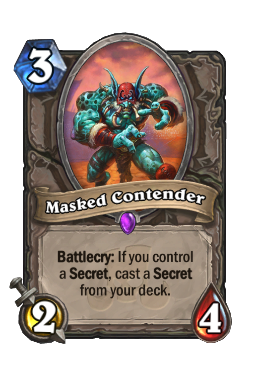 Masked Contender Hearthstone kártya