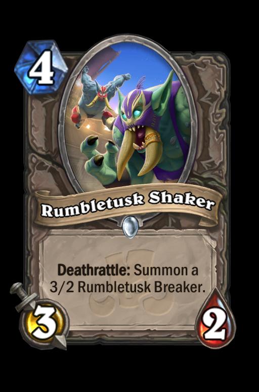 Rumbletusk Shaker Hearthstone kártya