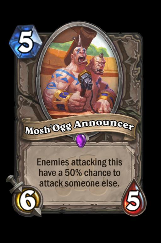 Mosh'Ogg Announcer Hearthstone kártya