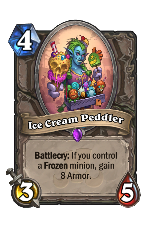 Ice Cream Peddler Hearthstone kártya