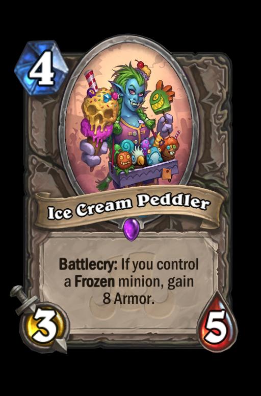 Ice Cream Peddler Hearthstone kártya
