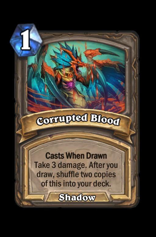 Corrupted Blood Hearthstone kártya