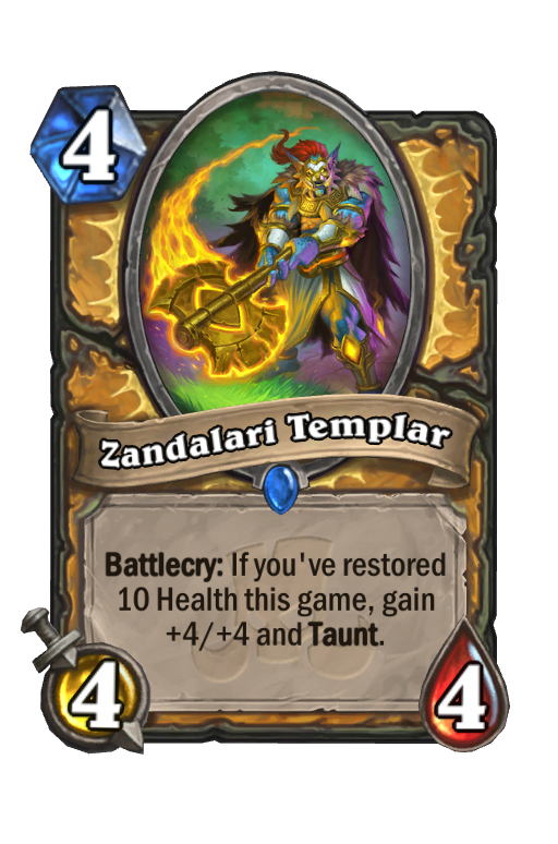 Zandalari Templar Hearthstone kártya
