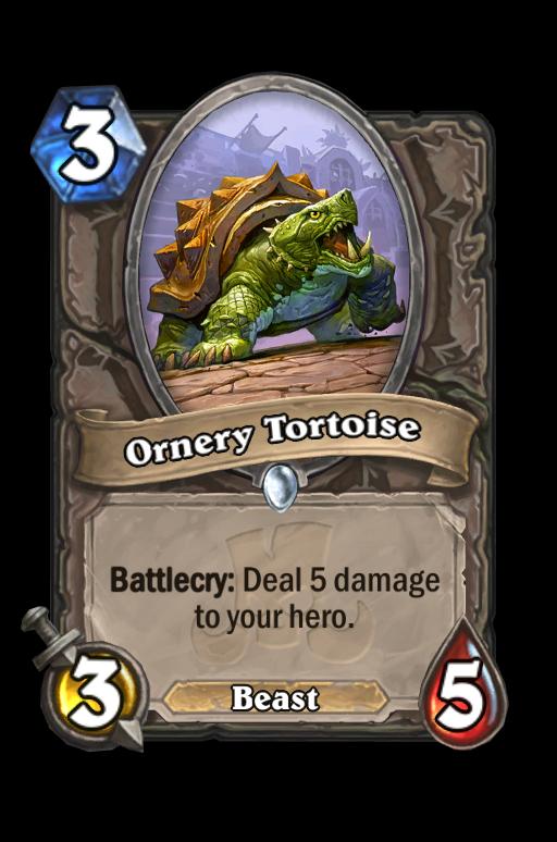 Ornery Tortoise Hearthstone kártya